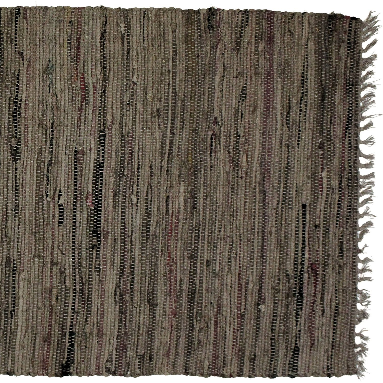 Sturbridge Country Rag Rug in Tobacco 24'' x 72'' by India Overseas Traders (Image #2)
