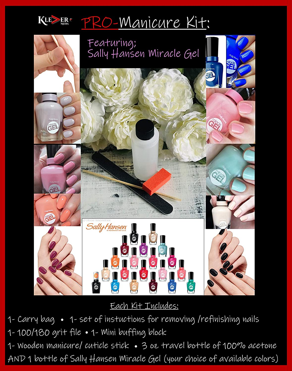Klever pro manicure kit FEATURING Sally Hansen Miracle Gel 109/610 Cream of the Crop