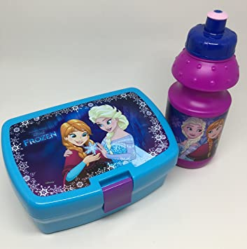 diakakis – 0561610 – Set picnic – Caja de sándwich y botella de plástico – Frozen