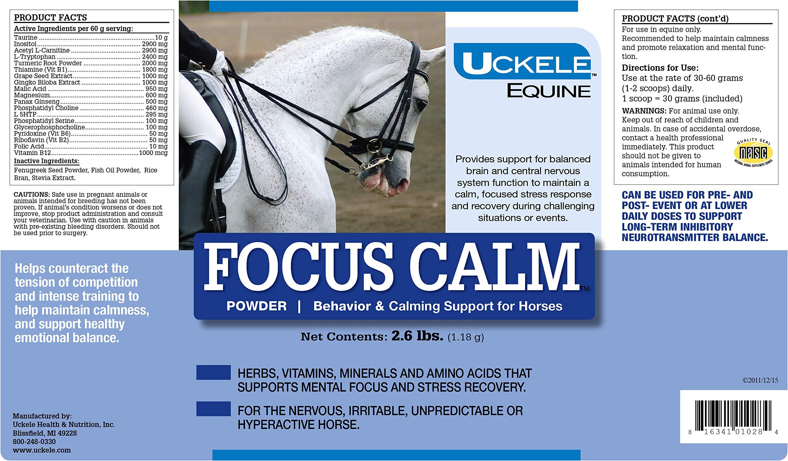 Uckele Focus Calm Horse Supplement, 2.6-Pound by Uckele
