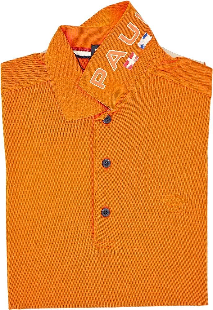PAUL & SHARK Polo, Casual, Slimfit, Algodón Arancione S: Amazon.es ...