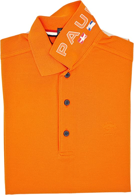 PAUL & SHARK Polo, Casual, Slimfit, Algodón Arancione S: Amazon.es ...