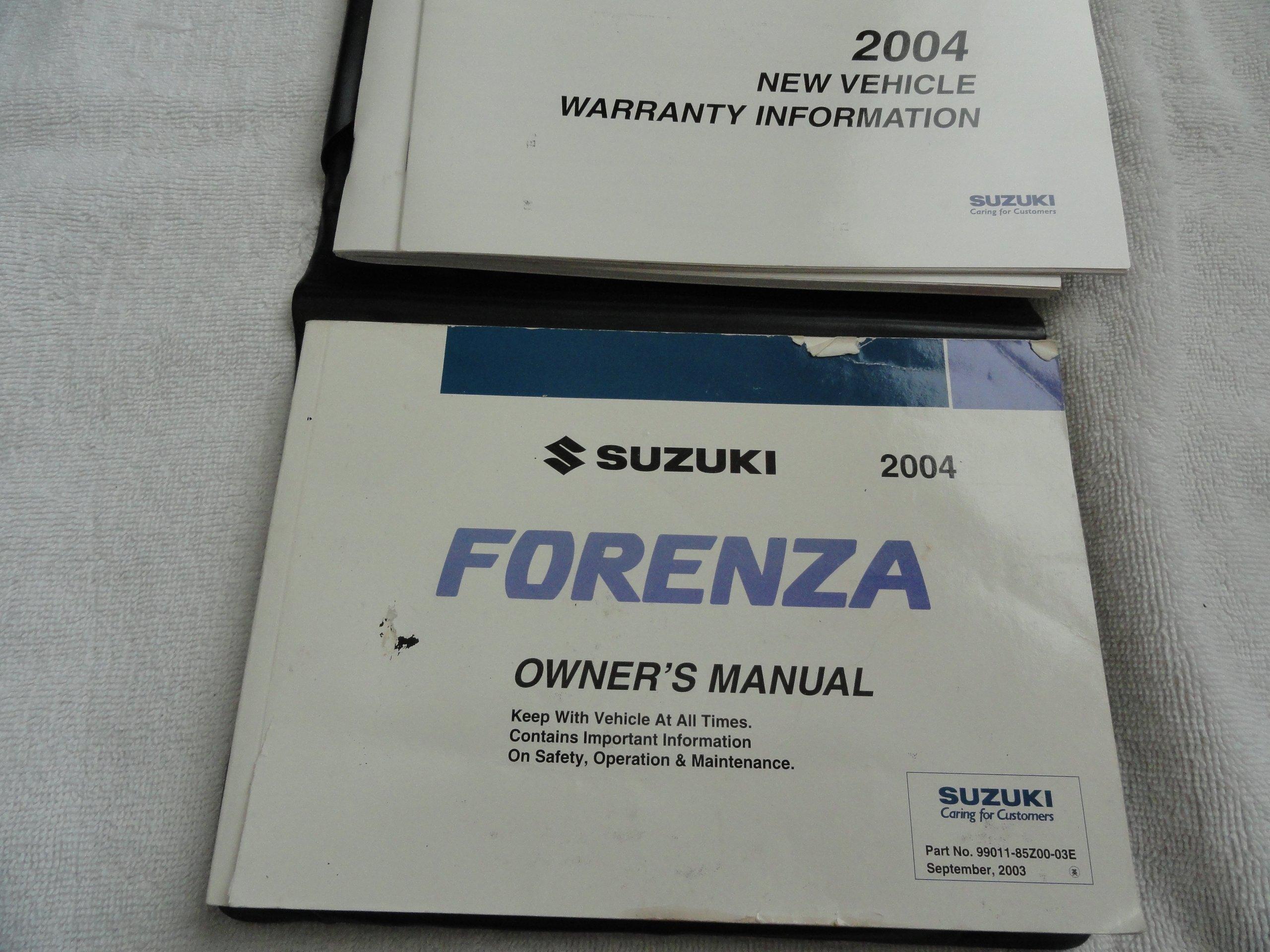 2004 suzuki forenza owners manual suzuki amazon com books rh amazon com suzuki forenza owners manual download 2006 suzuki forenza owners manual