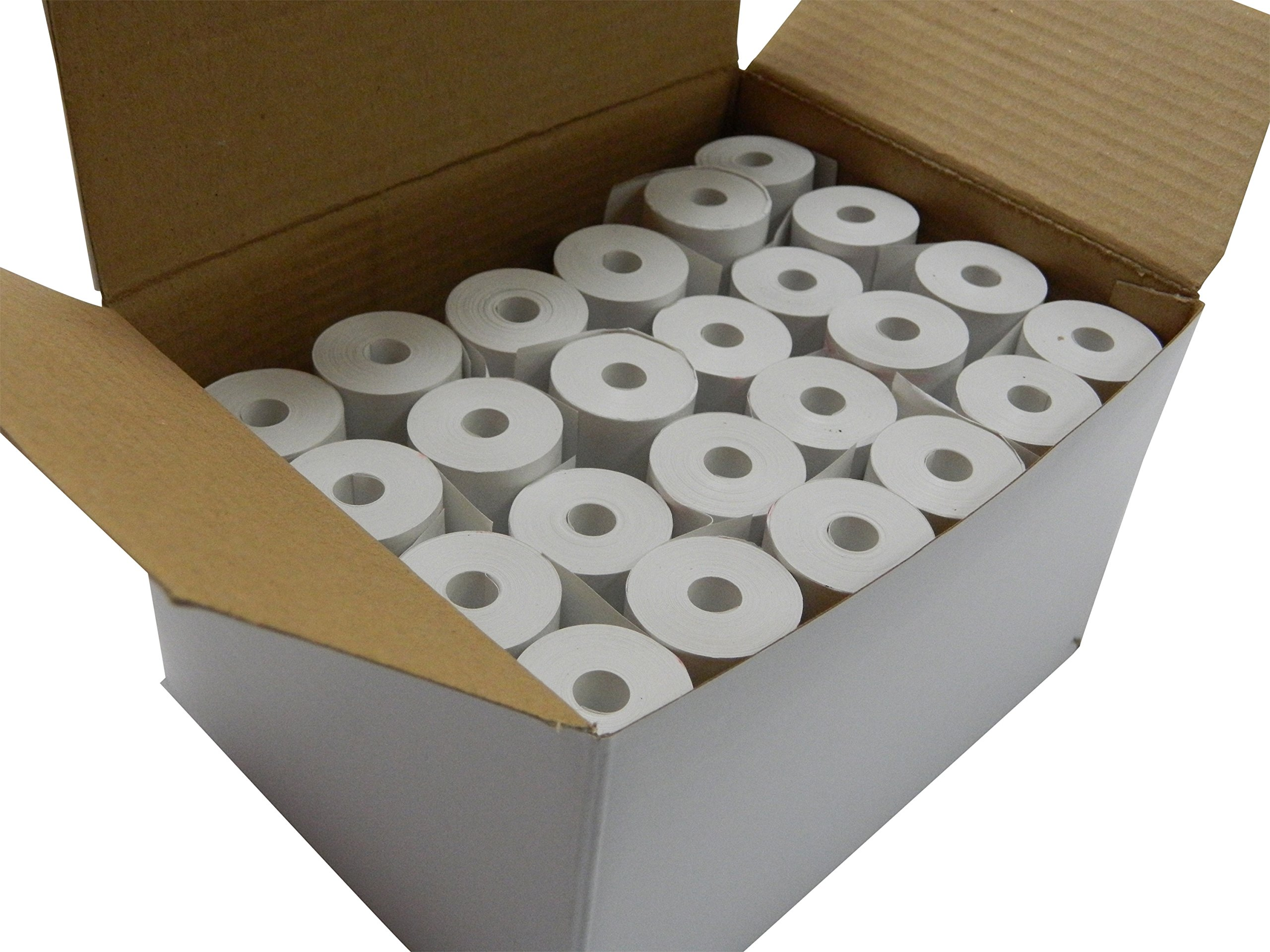 POS1 2 1/4 x 30 ft x 25mm diameter BPA Free Thermal Paper 24 CORELESS Rolls by POS1
