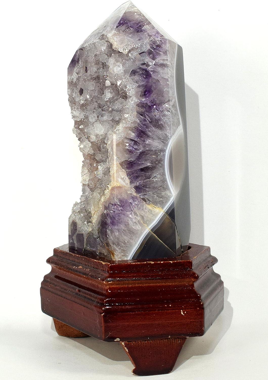 E Unique Natural Purple Amethyst Crystal Quartz Cluster Geode 2.55 lb AD65