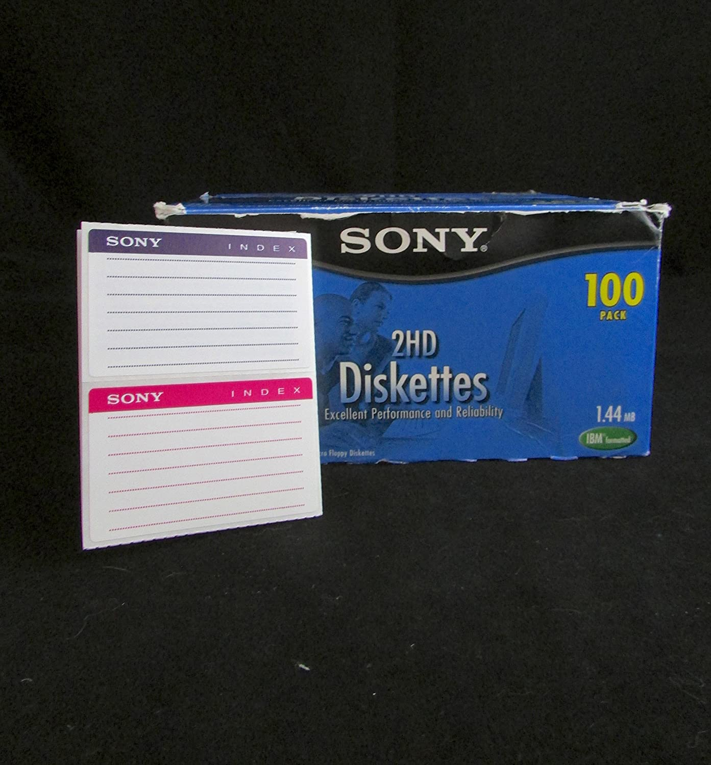 """Sealed SONY 2HD IBM Formatted Micro 3.5/"""" 1.44MB Floppy Diskettes 10 PK FEW LEFT"""