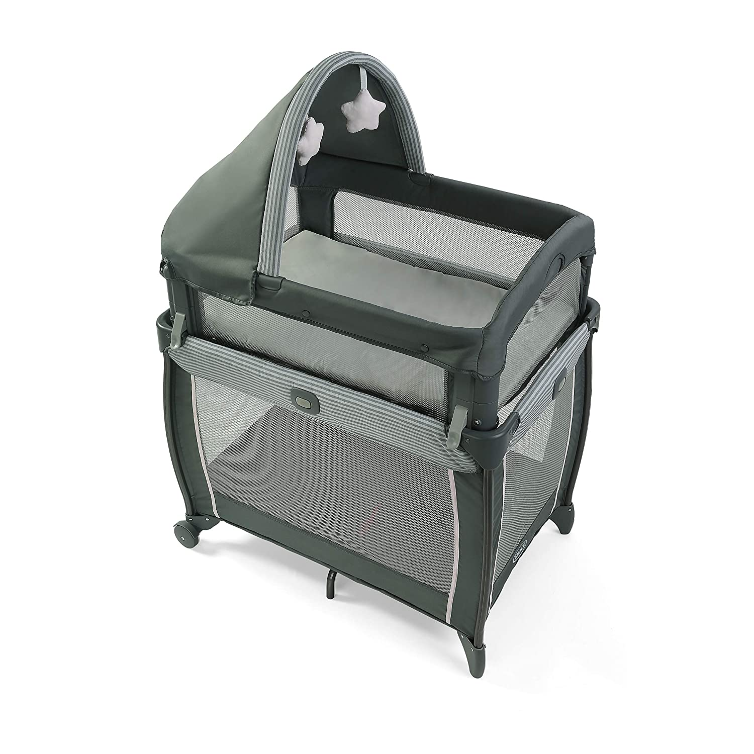 Graco My View 4 in 1 Bassinet | Baby Bassinet with 4 Stages, Including Raised Bassinet at Eye Level, Montana