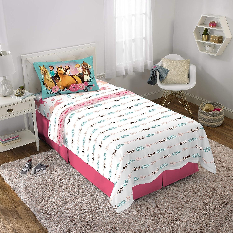 Nickelodeon Paw Patrol Kids Bedding Soft Microfiber Sheet Set Full Size 4 Piece Pack Pink//White Girls Design