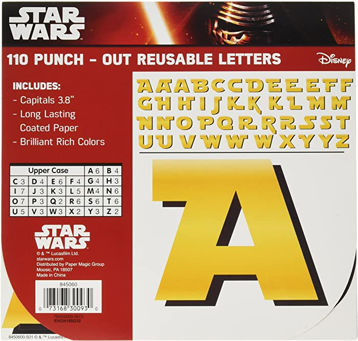 Eureka Star Wars Classroom Decoration Bulletin Board Deco Letters, 110pc