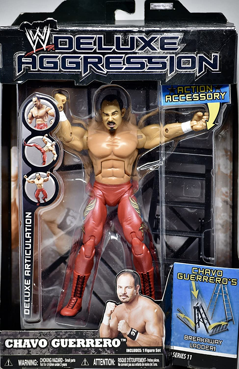 Chavo Guerrero Jakks W Deluxe Aggression Series 11 Action Figure Action Accessory