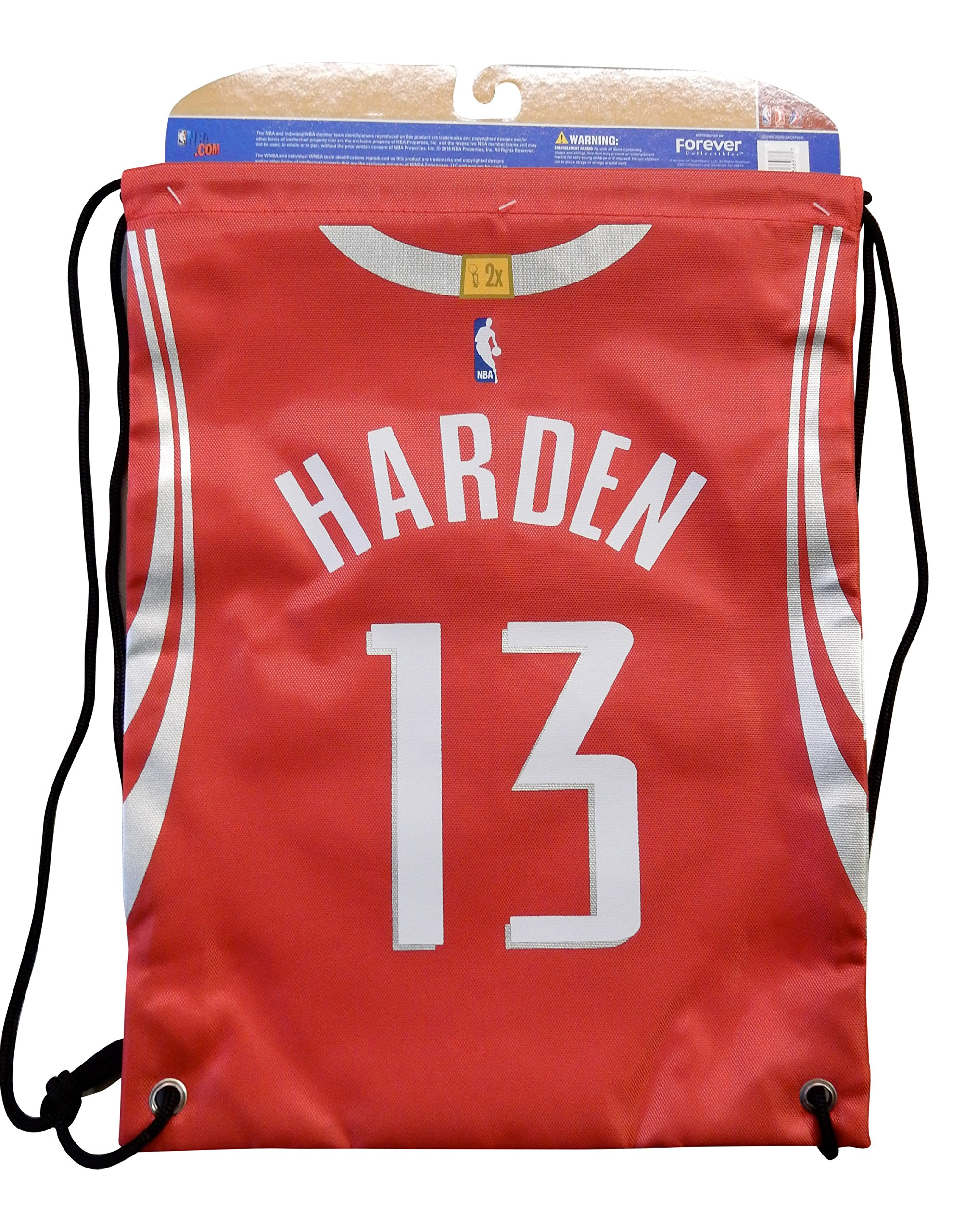 Forever Collectibles Houston Rockets James Harden #13 String Bag Backpack