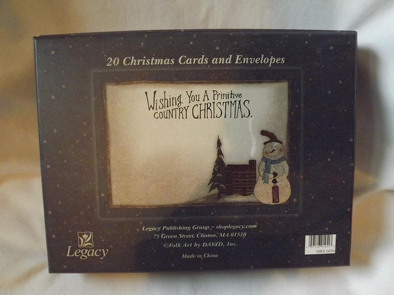 Amazon.com : Legacy Boxed Folk Art Christmas Cards 20 Cards ...