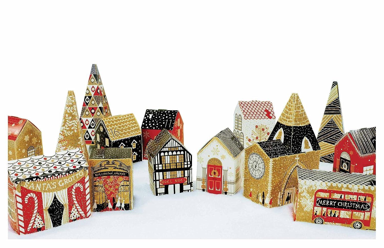 /335/x 473/mm Caltime Ltd Tradizionale nero e bianco Village/ /418754/ /24/pop up edifici fare calendario dell avvento/