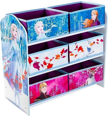 Disney Estantería para Guardar Juguetes con Seis Cajas para niños, Madera contrachapada, Multicolor, (Annäherungswerte): 63,5 cm (B) x 60 cm (H) x 30 ...