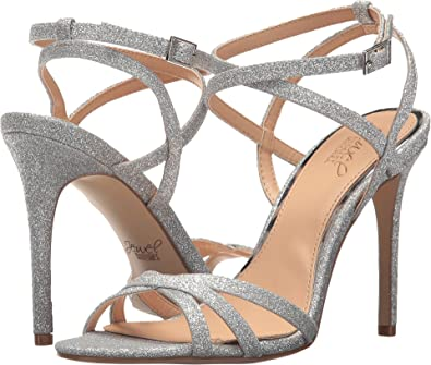 cb4bcff1e05 Amazon.com  Badgley Mischka Jewel Women s Ambre Silver 10 B US  Shoes