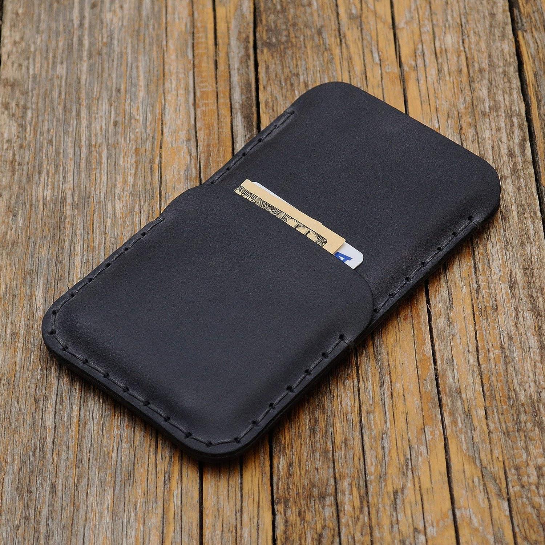 Grigio custodia a guscio per iPhone XS X in cuoio con 1 porta carta di credito e banconote verticale portacellulare cover case caso