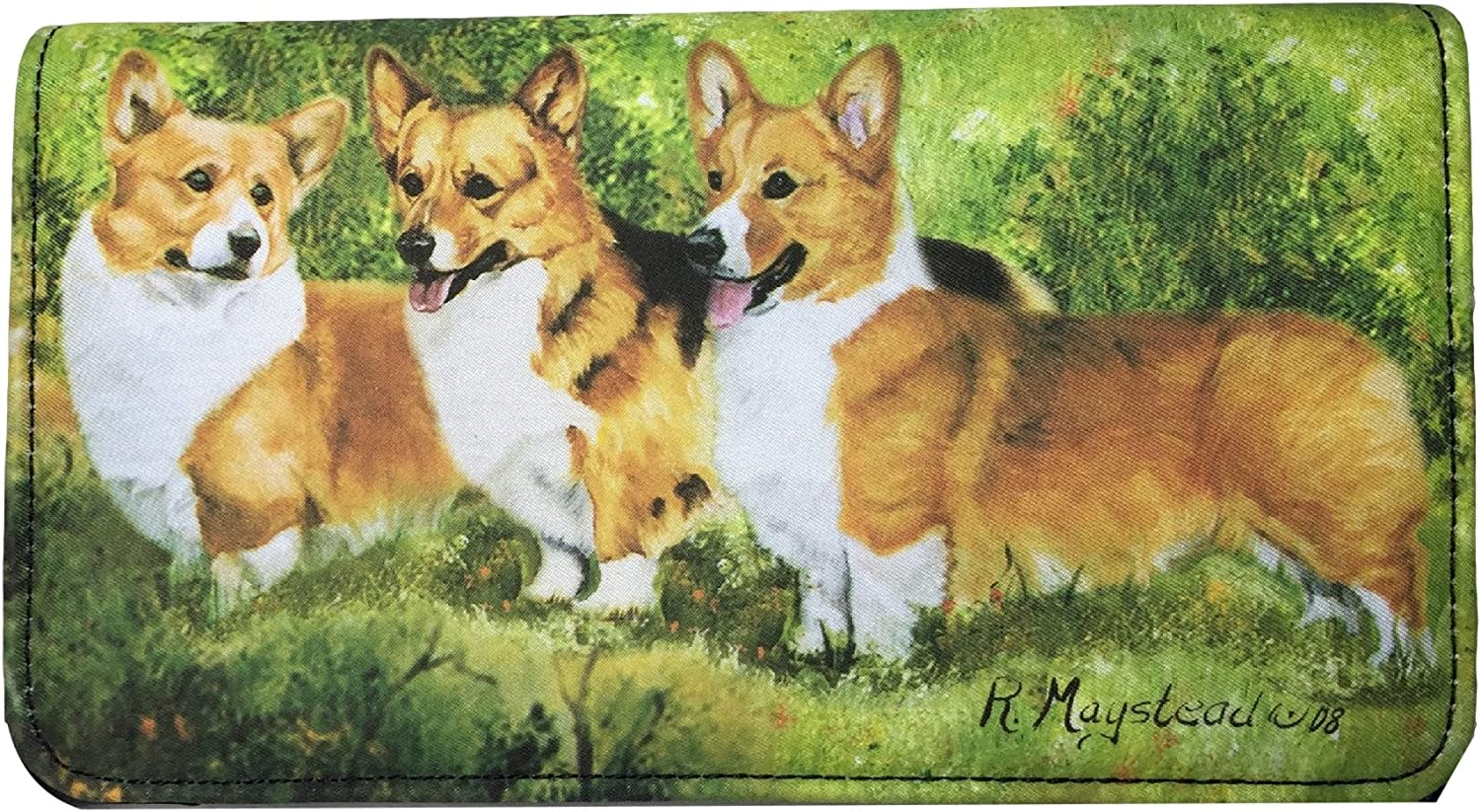 full color both sides WELSH CORGI Zippered Pouch by Maystead