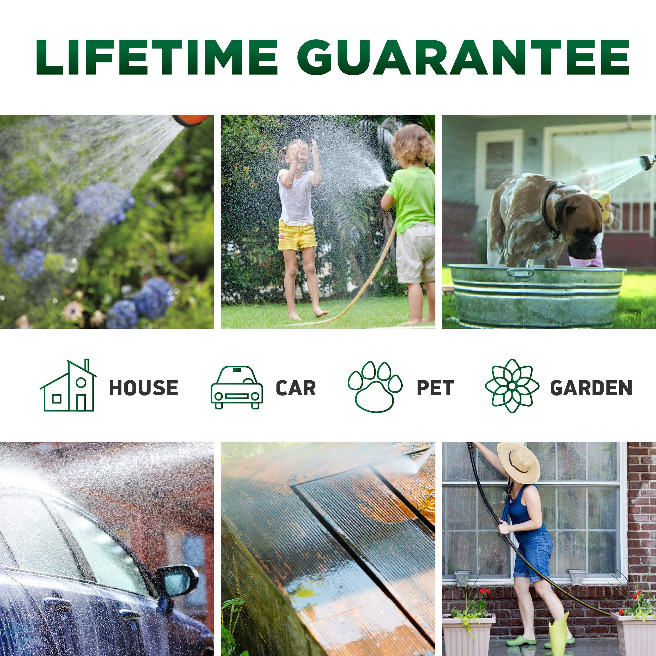[UPGRADED 2019] 50 Feet Expandable Garden Water Hose - Superior Strength 3750D | 4-Layers Latex | Extra-Strong Brass Connectors | 10-Way Durable Zinc Spray Nozzle, 2-Way Pocket Flexible Splitter by TBI Pro (Image #6)
