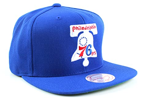 2cbca7dfa06 Amazon.com   Mitchell And Ness Sixers Wool 2 Snapback Hat With Bell ...