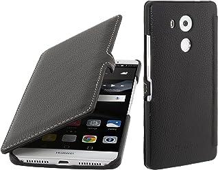 StilGut Book Type Case con Clip, custodia in pelle per Huawei Mate 8 & Mate 8 Dual SIM con funzione smart cover , Nero
