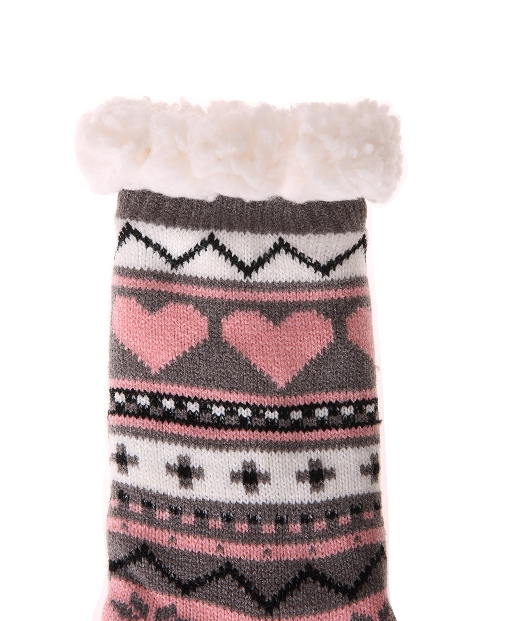 Dosoni-Womens-Winter-Snowflake-Fleece-Lining-Knit-Christmas-Knee-Highs-Stockings-Slipper-Socks