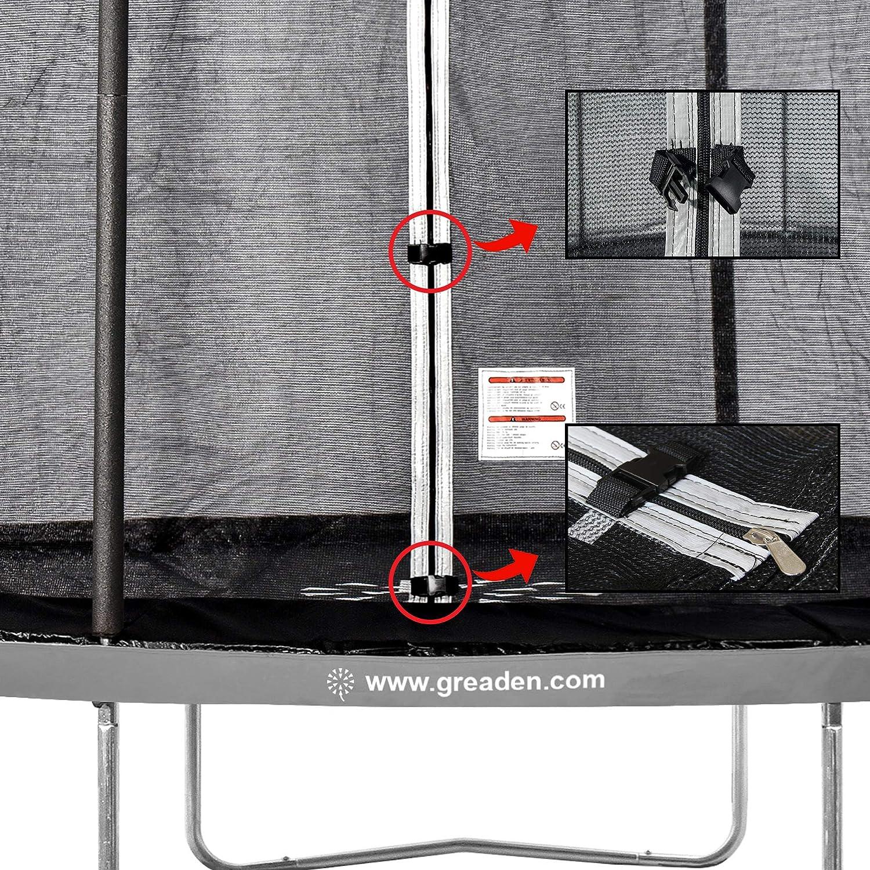 180 cm hochwertig /Ø 305 cm GREADEN Sicherheitsnetz und Trampolinschutz