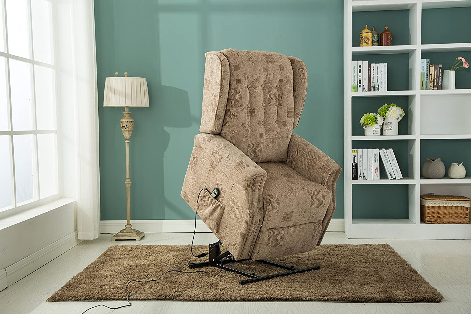 Marvelous Birlea Ashworth Fabric Motorised Rise Recline Chair Wheat Unemploymentrelief Wooden Chair Designs For Living Room Unemploymentrelieforg