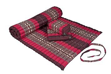 Amazon.com: Kapok Dreams Yoga Set: Kapok Mat + Block Cushion ...