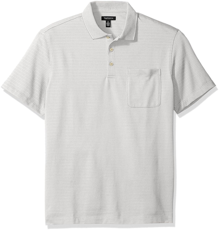 27e01200 Van Heusen Men's Jacquard Short Sleeve Polo at Amazon Men's Clothing store: