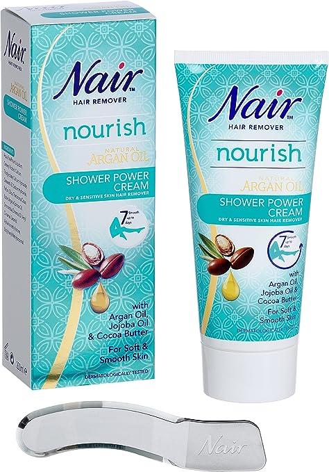Nair Shower Power Cream For Dry Sensitive Skin With Argan
