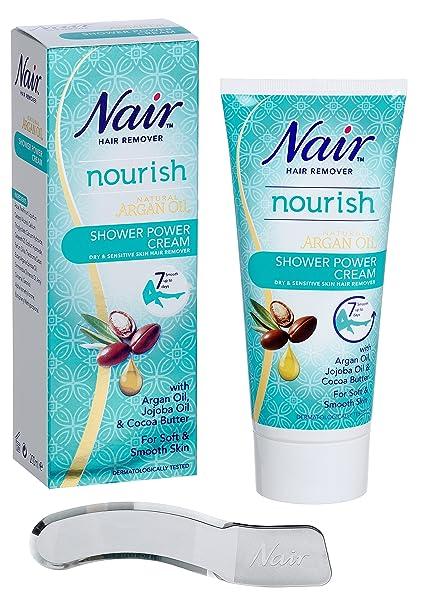 Nair – Aceite de Argán Natural para eliminar pelo seco y sensible ducha potencia, 200