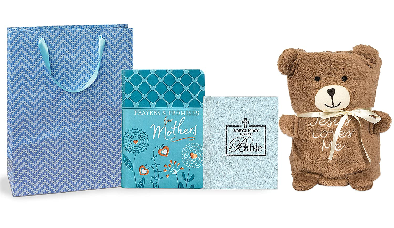 Super Soft Baby Blanket with Toy Set Newborn Christening Gift Cute Boy Girl