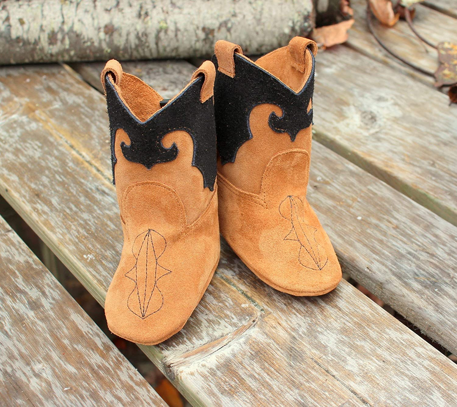 Leather Western Baby Cowboy Boots: Handmade