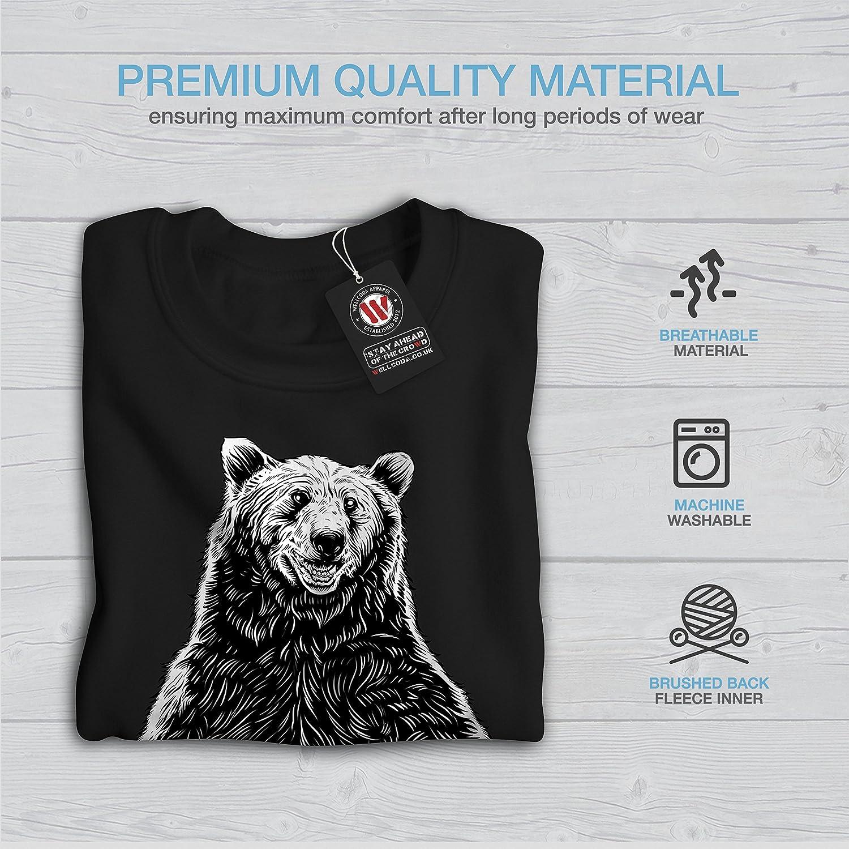 Grizzly Casual Jumper wellcoda Fishing Bear Angler Mens Sweatshirt