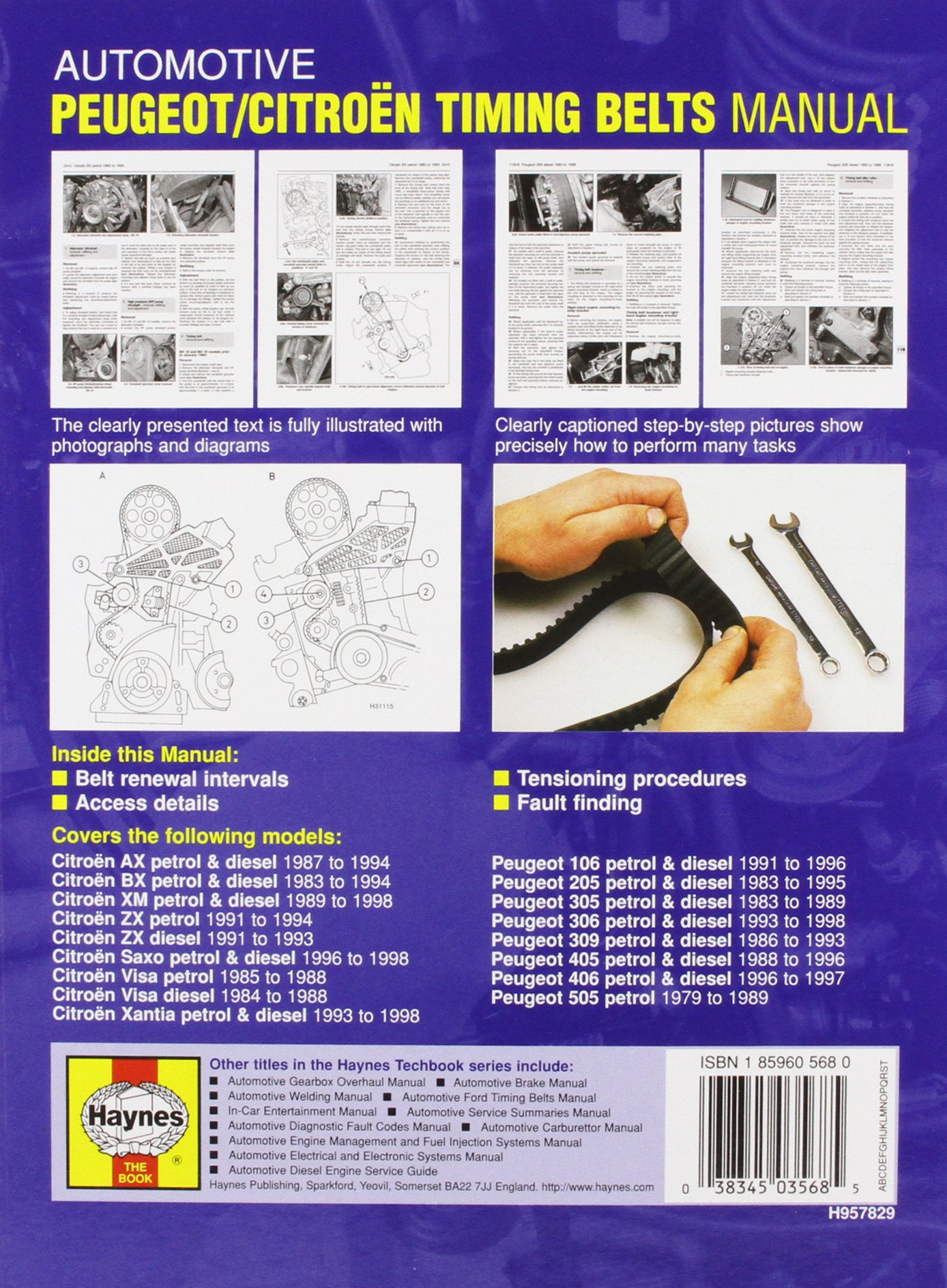 Automotive Peugeot/Citroen Timing Belts Manual (Haynes Techbooks): Ian  Barnes: 9781859605684: Amazon.com: Books