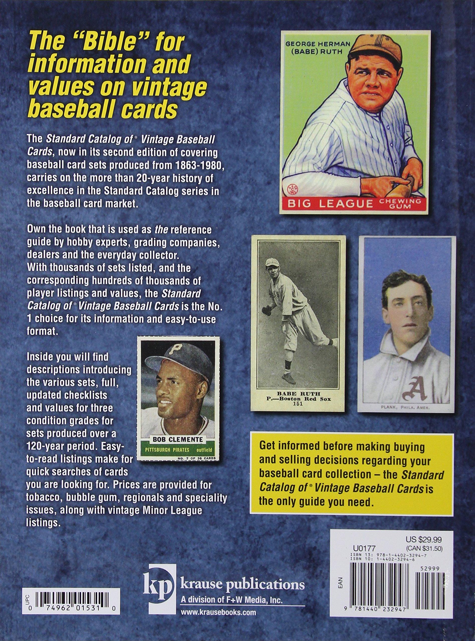 Standard Catalog Of Vintage Baseball Cards Staff Of Sports