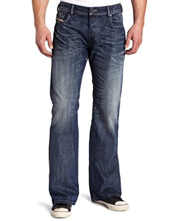 5850c229fc1 Amazon.com: Diesel Men's Zathan Regular Bootcut Leg Jean 0885S: Clothing