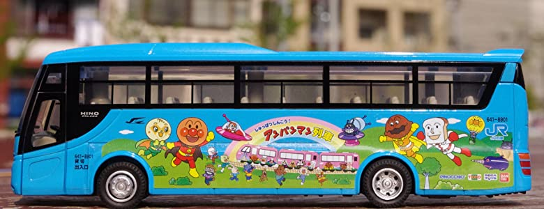 ダイヤペット DK-4002 1/72スケール アンパンマン貸切バス
