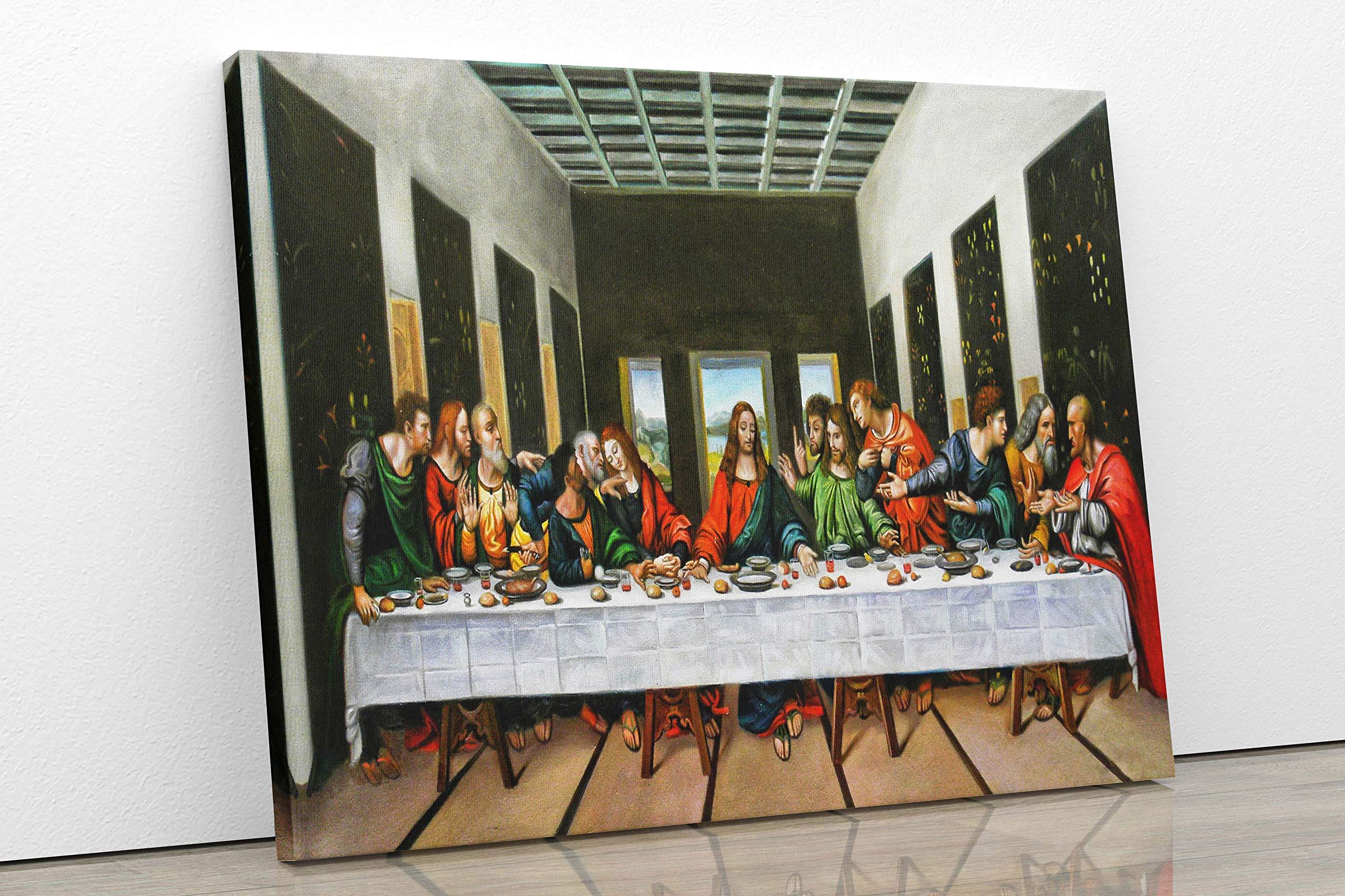 The Last Supper Leonardo Da Vinci Jesus Catholics Canvas Large Wall Picture Art