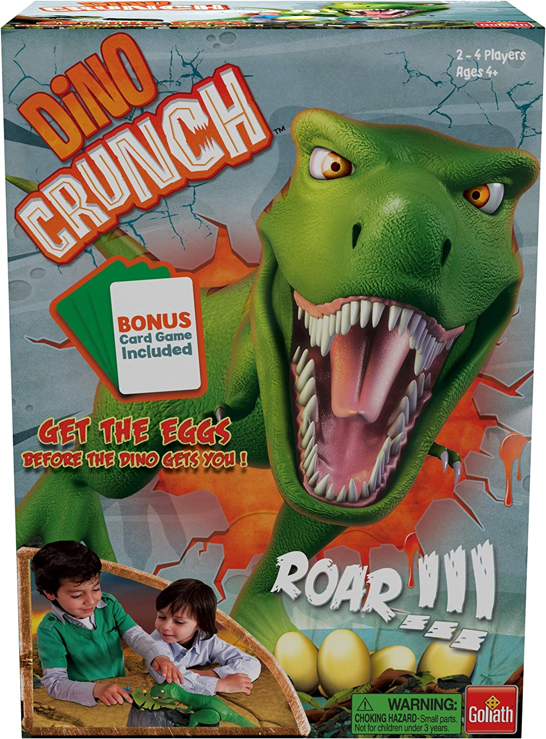 Dino Crunch - Get The Eggs Before The Dino Gets You! - with Bonus Shark Bite War Card Game by Goliath