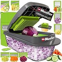 Mueller Austria Pro-Series 8 Blade Onion Mincer Chopper, Slicer, Vegetable Chopper, Cutter, Dicer, Vegetable Slicer with Container