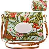 4 Nature Baby Diaper Bag Clutch for Mom, Dad - Small, Portable for Travel, Wristlet with Organizing Pouches, Refillable Wipes