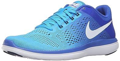 b29166af879 Nike Women's Flex 2016 RN Running Shoe, Glow/White/Racer Blue/Midnight