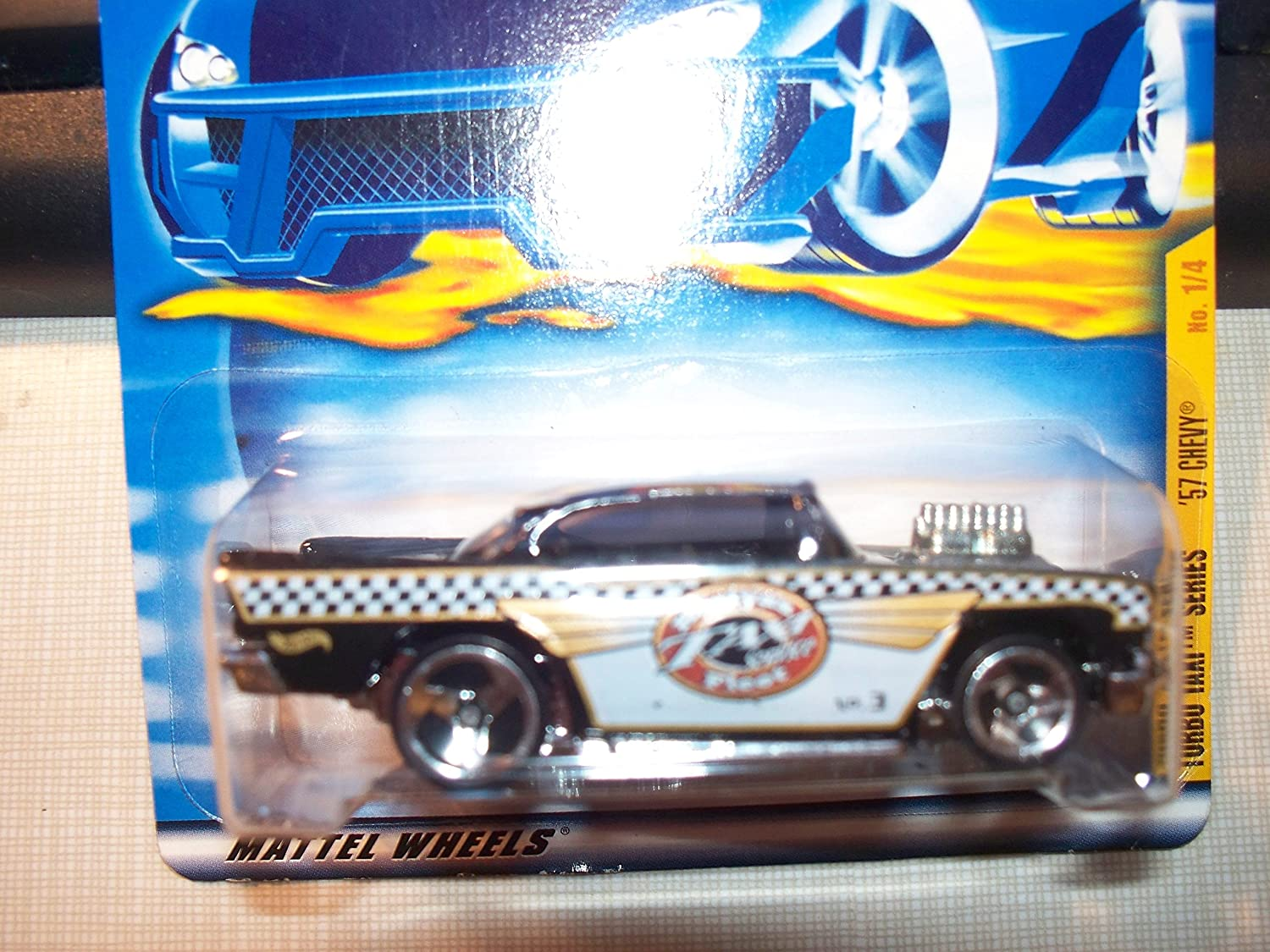 Turbo Taxi Series #1 57 Chevy #2001-53 Collectible Collector Car Mattel Hot Wheels