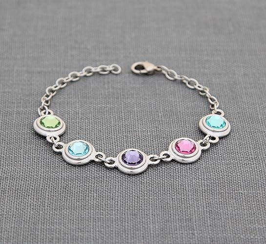 amazon com grandmother jewelry personalized mothers bracelet with