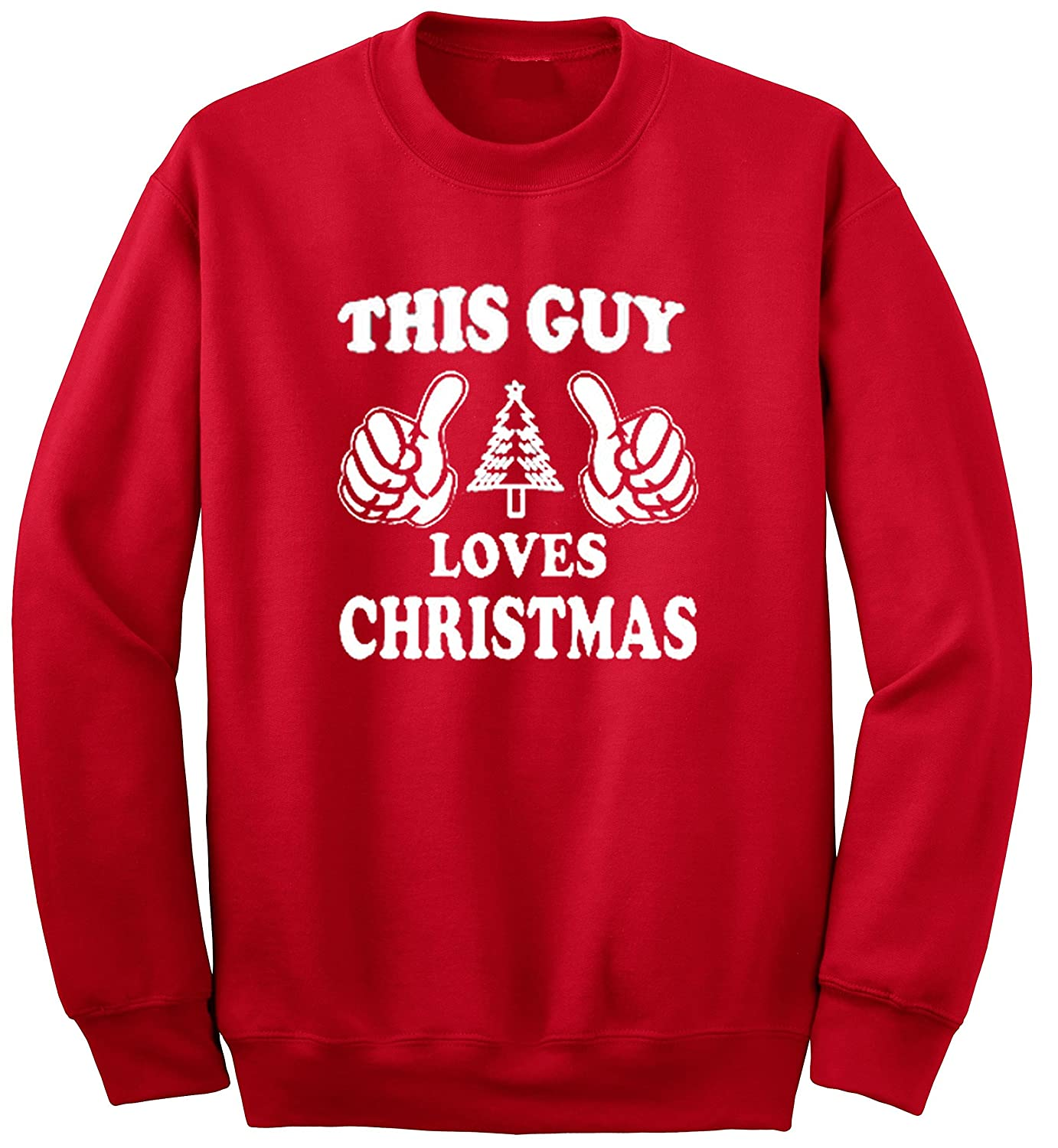 YM Wear Adult This Guy Love Christmas Sweater Crewneck