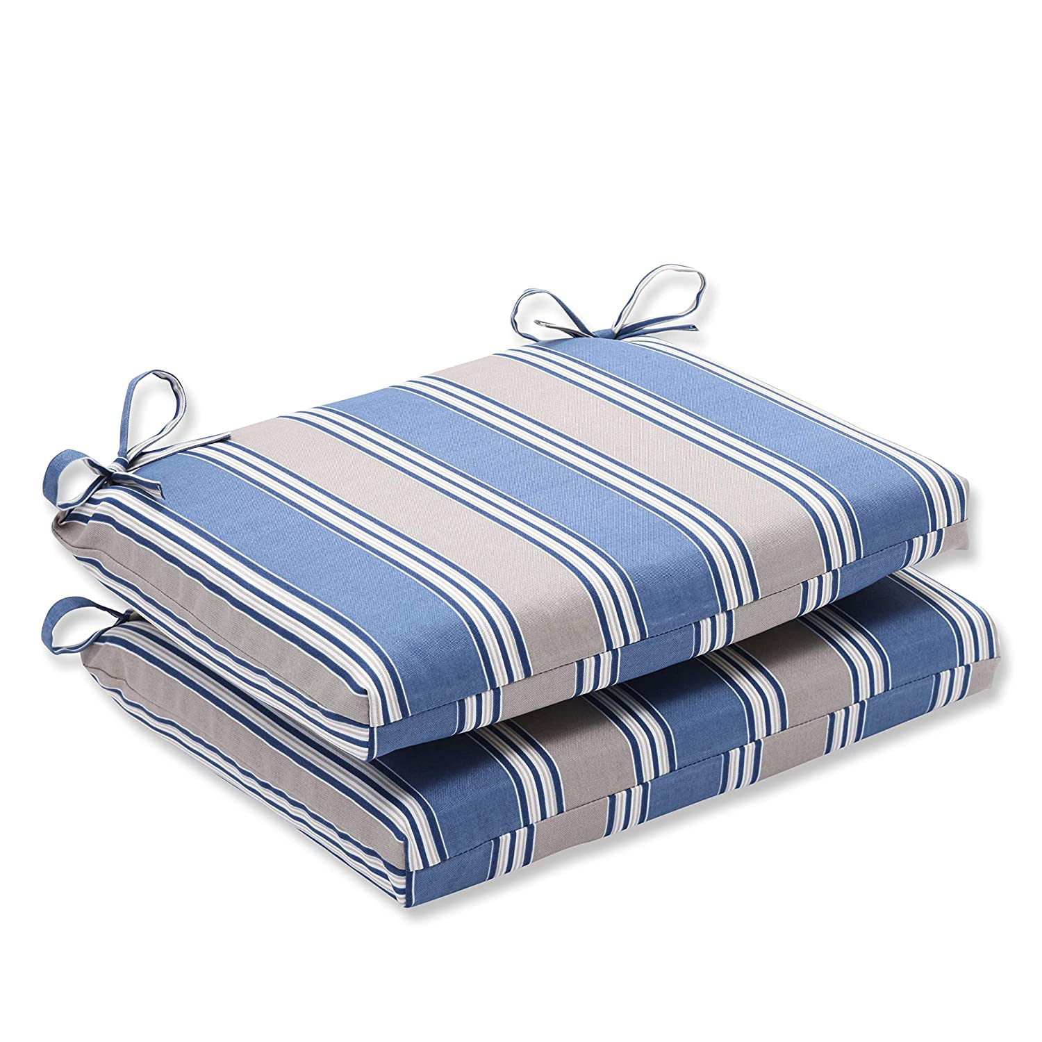 Amazon Pillow Perfect Indoor Outdoor Blue Tan Striped Seat