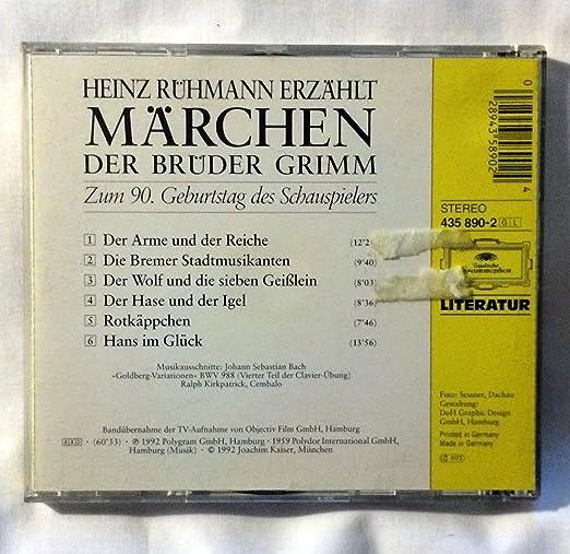Heinz Ruhmann Erzahlt Marchen Der Bruder Grimm Dg Literatur Cd Von
