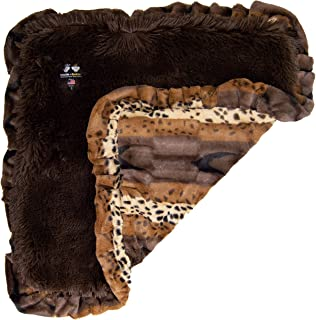 product image for BESSIE AND BARNIE Ultra Plush Wild Kingdom/Grizzly Bear Luxury Shag Dog/Pet Blanket