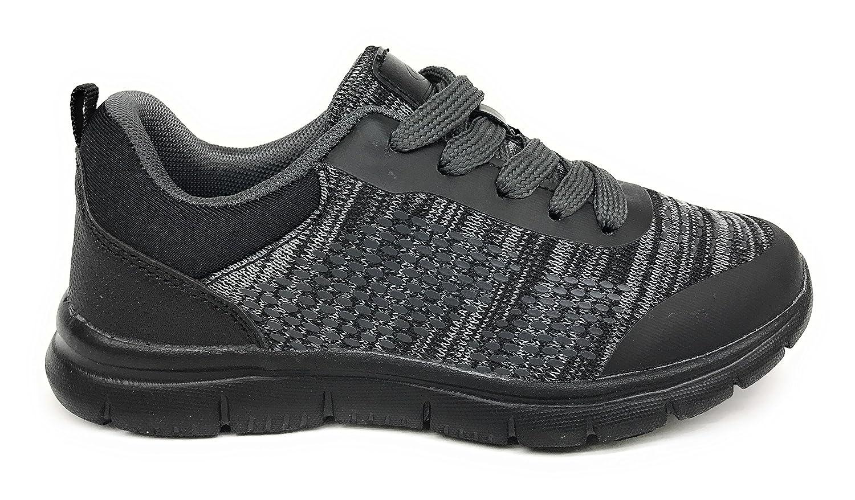 1 M US Little Kid, Black//Black Geers Toddler//Little Kid//Big Kid 6172 Boys Athletic Casual Running Fashion Sneaker